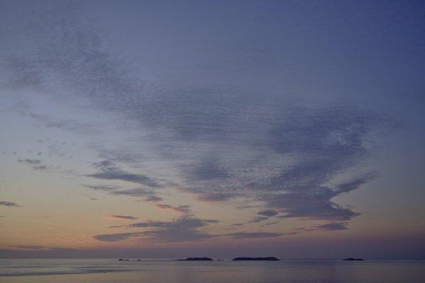 Aurore sur Les 7 îles